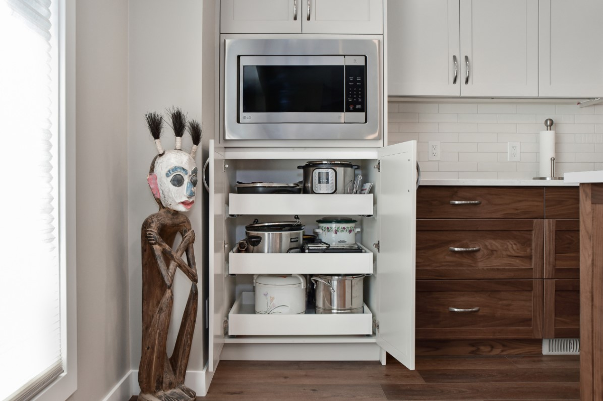 Pull out drawers for small appliances